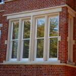 Stone window surrounds restored to residential house in Oxford