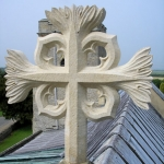 Stone cross supplied and fixed to Steventon Church