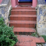 Stone steps supplied and fixed in oxford : Before